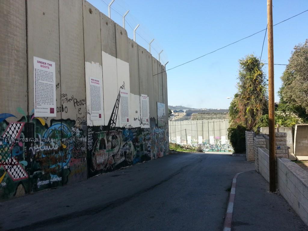 Zeď oddělující Izrael a Palestinu