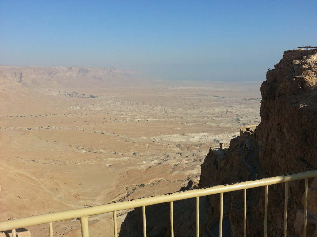 Masada výhled na okolí