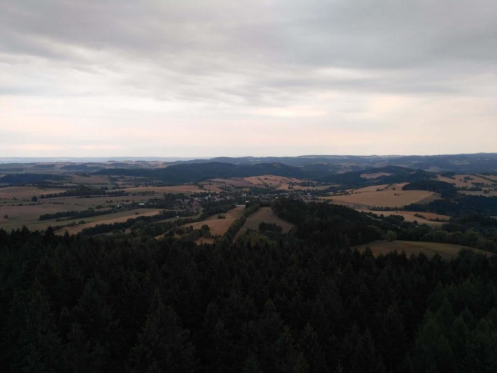 Rozhledna Horní les výhled