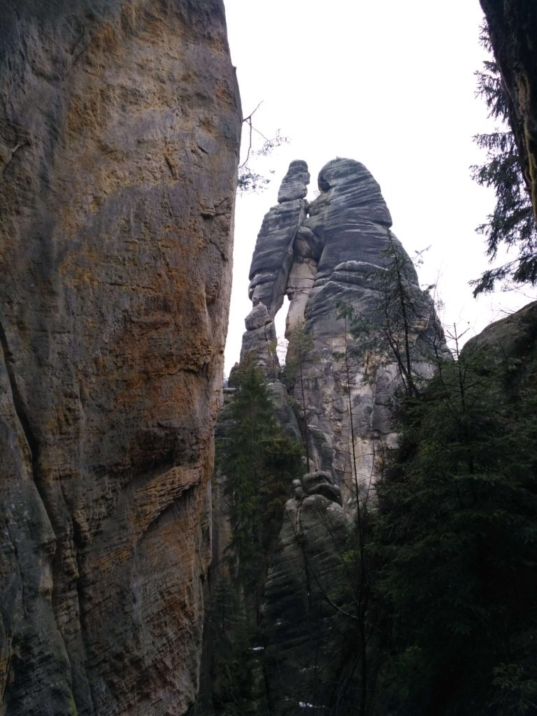 Andršpachy - skalní útvar Milenci